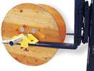 Cable Reel Roller Forklift Attachment